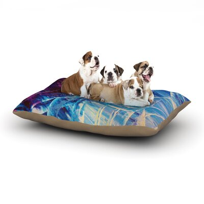 Ebi Emporium Night Flowers Dog Pillow with Fleece Cozy Top Size: Small (40 W x 30 D x 8 H)