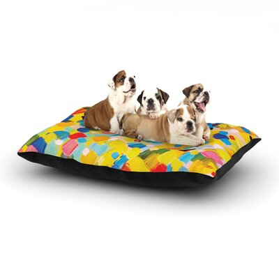 Ebi Emporium Swept Away Dog Pillow with Fleece Cozy Top Size: Small (40 W x 30 D x 8 H)
