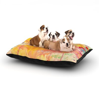Ebi Emporium Sun Showers Dog Pillow with Fleece Cozy Top Size: Small (40 W x 30 D x 8 H)