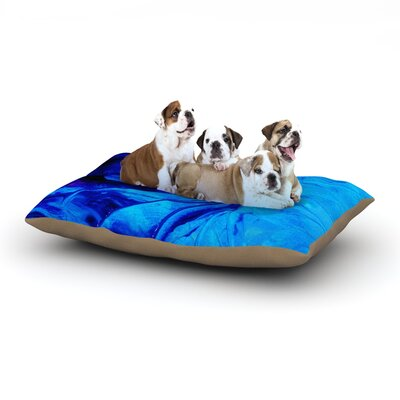 Ebi Emporium Petal Pinwheels Dog Pillow with Fleece Cozy Top Size: Large (50 W x 40 D x 8 H)