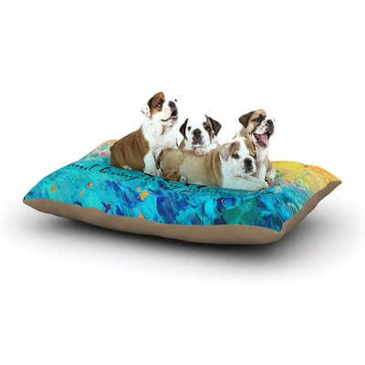 Ebi Emporium Lost at Sea Dog Pillow with Fleece Cozy Top Size: Large (50 W x 40 D x 8 H)