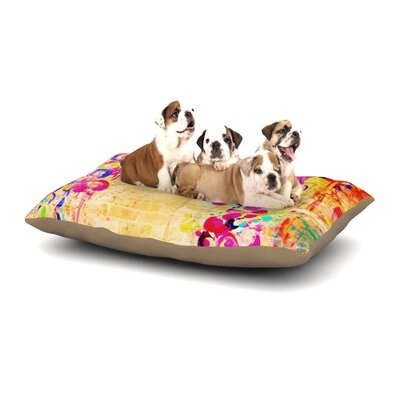 Ebi Emporium Wall Flowers Dog Pillow with Fleece Cozy Top Size: Small (40 W x 30 D x 8 H)