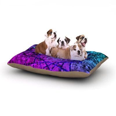 Ebi Emporium Reach for the Stars Dog Pillow with Fleece Cozy Top Size: Small (40 W x 30 D x 8 H)