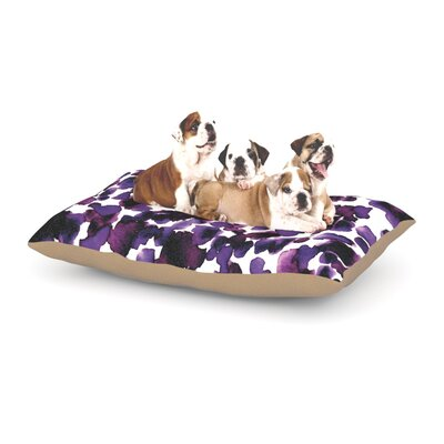Ebi Emporium Giraffe Spots Dog Pillow with Fleece Cozy Top Size: Large (50 W x 40 D x 8 H), Color: Purple/Lavender