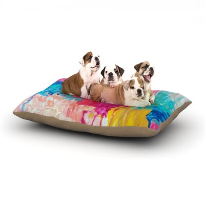 Ebi Emporium Elated Paint Dog Pillow with Fleece Cozy Top Size: Small (40 W x 30 D x 8 H)