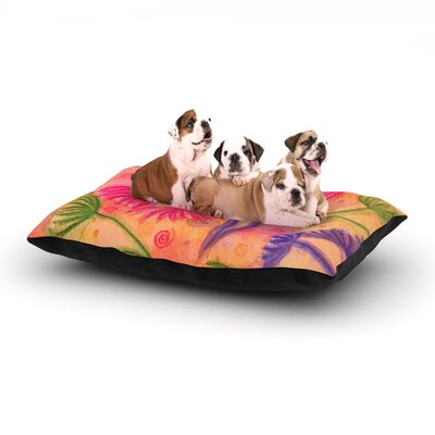 Ebi Emporium Cow Parsley Dog Pillow with Fleece Cozy Top Size: Small (40 W x 30 D x 8 H)