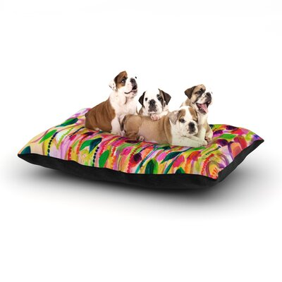 Ebi Emporium Roses are Red Dog Pillow with Fleece Cozy Top Size: Small (40 W x 30 D x 8 H)