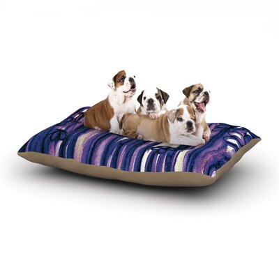 Ebi Emporium Winter Garden in Violet Dog Pillow with Fleece Cozy Top Size: Large (50 W x 40 D x 8 H)