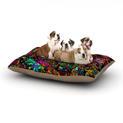 Ebi Emporium Prismatic Posy IV Floral Dog Pillow with Fleece Cozy Top Size: Small (40 W x 30 D x 8 H)