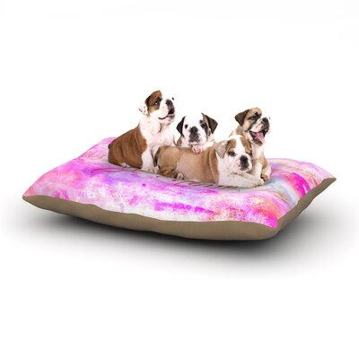 Ebi Emporium Je Taime II Abstract Dog Pillow with Fleece Cozy Top Size: Small (40 W x 30 D x 8 H)