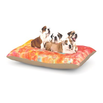 Ebi Emporium Pastel Jungle Dog Pillow with Fleece Cozy Top Size: Small (40 W x 30 D x 8 H)