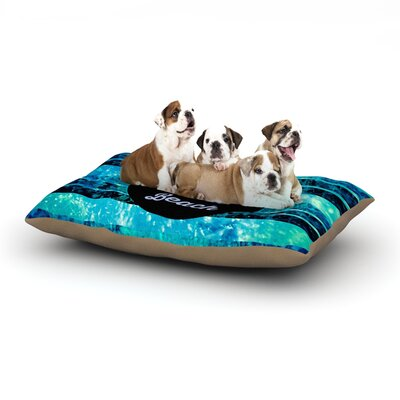 Ebi Emporium Life is Better at the Beach Dog Pillow with Fleece Cozy Top Size: Large (50 W x 40 D x 8 H)