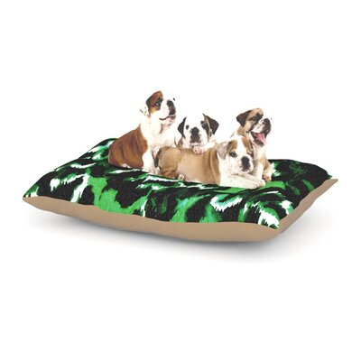 Ebi Emporium Wild at Heart Dog Pillow with Fleece Cozy Top Size: Large (50 W x 40 D x 8 H), Color: Green