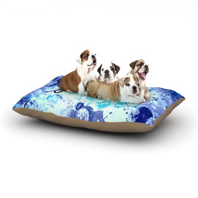 Ebi Emporium Just Believe Dog Pillow with Fleece Cozy Top Size: Large (50 W x 40 D x 8 H)