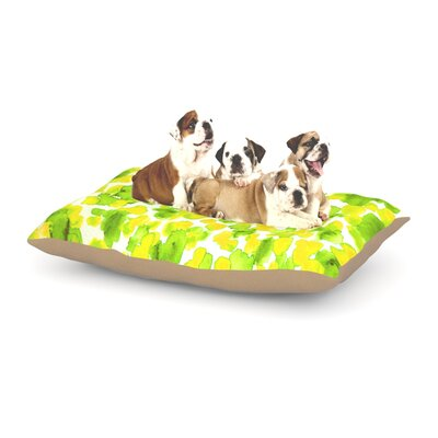 Ebi Emporium Giraffe Spots Dog Pillow with Fleece Cozy Top Size: Large (50 W x 40 D x 8 H), Color: Lime/Green/Yellow
