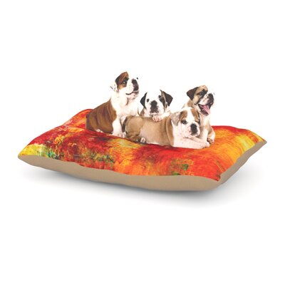 Ebi Emporium Autumn Harvest Dog Pillow with Fleece Cozy Top Size: Small (40 W x 30 D x 8 H)