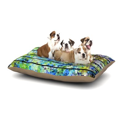 Ebi Emporium Stripes & Snowflakes Dog Pillow with Fleece Cozy Top Size: Large (50 W x 40 D x 8 H)