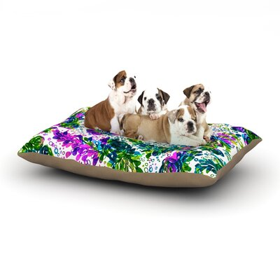 Ebi Emporium Prismatic Posy III Dog Pillow with Fleece Cozy Top Size: Small (40 W x 30 D x 8 H)
