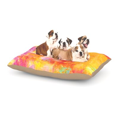 Ebi Emporium Off the Grid Dog Pillow with Fleece Cozy Top Size: Small (40 W x 30 D x 8 H)