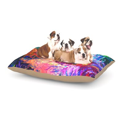 Ebi Emporium Welcome to Utopia Dog Pillow with Fleece Cozy Top Size: Large (50 W x 40 D x 8 H)