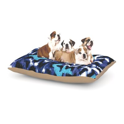 Ebi Emporium Wild at Heart Dog Pillow with Fleece Cozy Top Size: Large (50 W x 40 D x 8 H), Color: Blue/Aqua