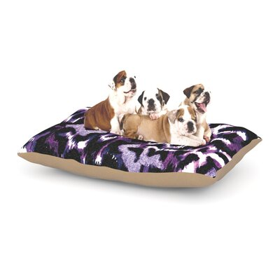 Ebi Emporium Wild at Heart Dog Pillow with Fleece Cozy Top Size: Small (40 W x 30 D x 8 H), Color: Purple