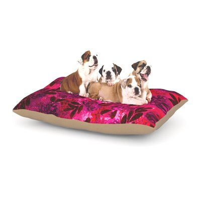 Ebi Emporium Grunge Flowers IV Dog Pillow with Fleece Cozy Top Size: Large (50 W x 40 D x 8 H)