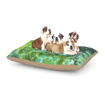 Ebi Emporium Pastel Jungle II Dog Pillow with Fleece Cozy Top Size: Large (50 W x 40 D x 8 H)