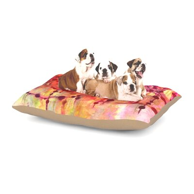 Ebi Emporium Prismacolor Pearls Dog Pillow with Fleece Cozy Top Size: Small (40 W x 30 D x 8 H)
