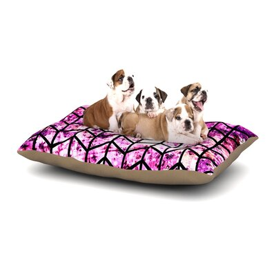 Ebi Emporium Chevron Wonderland Dog Pillow with Fleece Cozy Top Size: Large (50 W x 40 D x 8 H)