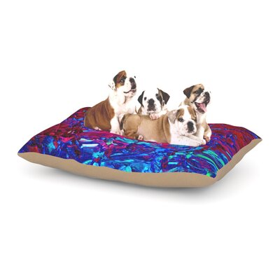 Ebi Emporium Eternal Tide Dog Pillow with Fleece Cozy Top Size: Small (40 W x 30 D x 8 H), Color: Red/Blue
