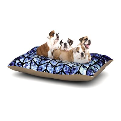 Ebi Emporium Chevron Wonderland II Dog Pillow with Fleece Cozy Top Size: Large (50 W x 40 D x 8 H)