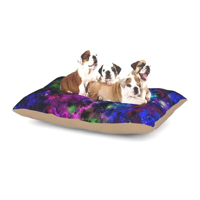 Ebi Emporium Color Me Floral Celestial Dog Pillow with Fleece Cozy Top Size: Large (50 W x 40 D x 8 H)