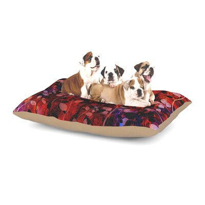 Ebi Emporium Amongst the Flowers - Summer Nights Dog Pillow with Fleece Cozy Top Size: Small (40 W x 30 D x 8 H)