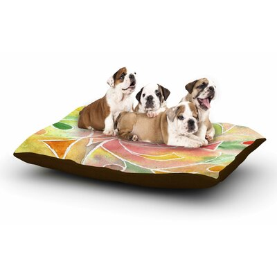 Rosie Brown Gift Wrap Pastel Dog Pillow with Fleece Cozy Top Size: Small (40 W x 30 D x 8 H)