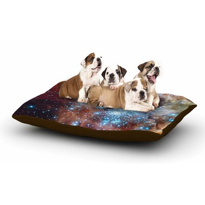 Suzanne Carter Star Cluster Space Dog Pillow with Fleece Cozy Top