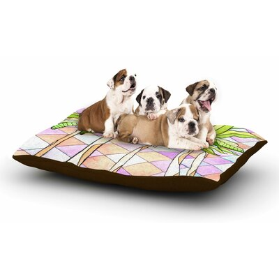 Rosie Brown 'Geometric Tropic' Dog Pillow with Fleece Cozy Top Size: Large (50