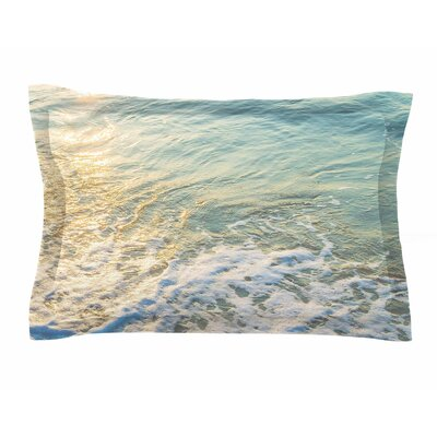 Susan Sanders Ocean Beach Water Photography Sham Size: Queen