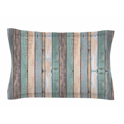 Susan Sanders Coastal Beach Wood Photography Sham Size: Queen