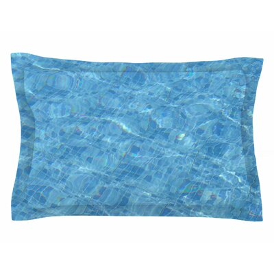 Susan Sanders Calm Blue Pool Water Photography Sham Size: King