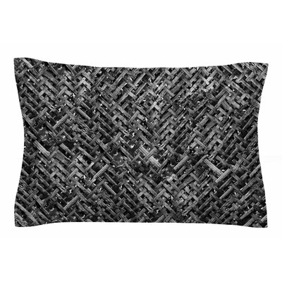 Susan Sanders Charcoal Gray Bamboo Weave Photography Sham Size: Queen