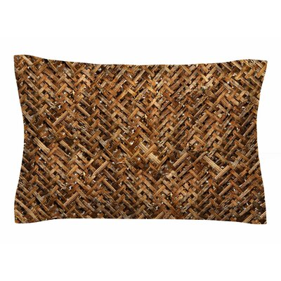 Susan Sanders Brown Bamboo Basket Weave Photography Sham Size: Queen