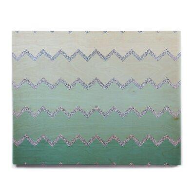 'Avalon Mint Ombre' Graphic Art Print on Wood ETHM7898 39107830