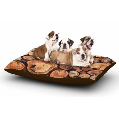 Susan Sanders Rustic Wood Logs Dog Pillow with Fleece Cozy Top