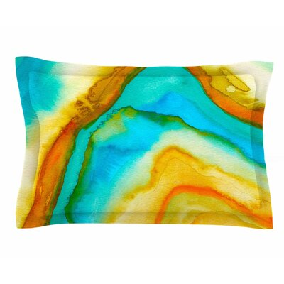 Viviana Gonzalez Agate Inspired Watercolor 10 Sham Size: King