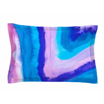 Viviana Gonzalez Agate Inspired Watercolor Abstract Sham Size: 20 H x 40 W x 0.25 D