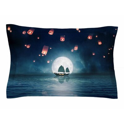 Viviana Gonzalez Travel Through the Lights Digital Sham Size: Queen