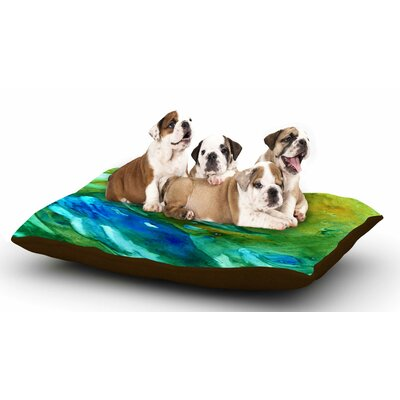 Rosie Brown Hurricane Dog Pillow with Fleece Cozy Top