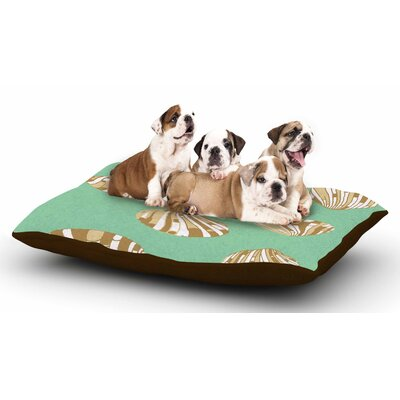 Rosie Brown Scallop Shells Dog Pillow with Fleece Cozy Top