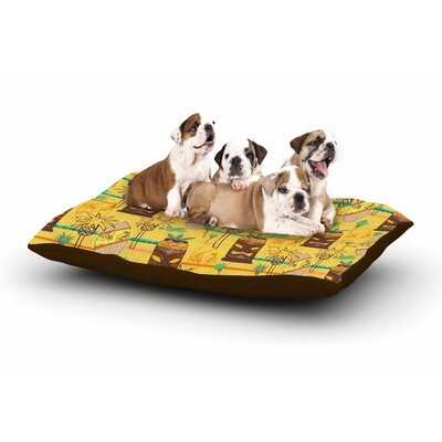 Jane Smith Surfing Tiki Dog Pillow with Fleece Cozy Top